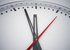 Time is twelve. 3d high quality rendering Royalty Free Stock Photos