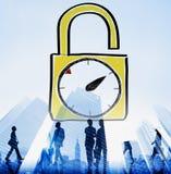 Time Unlock Alarm Clock Punctual Stopwatch Concept Stock Photo