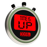 Time Is Up Message Meaning Deadline Reached Stock Photo
