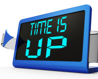 Time Is Up Message Means Deadline Reached Royalty Free Stock Images