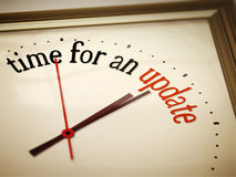 Time for an update. An image of a nice clock with time for an update Royalty Free Stock Photo