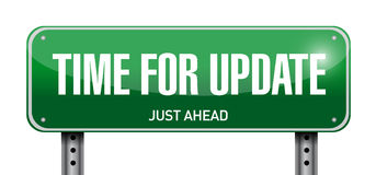 Time for update road sign illustration Royalty Free Stock Photography