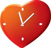 Time of the Valentine's day. A vector illustration Royalty Free Stock Photo