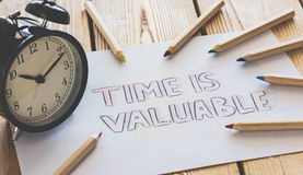Time Is Valuable Concept Stock Image