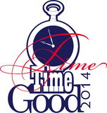 Time. Vector illustration of the concept of time for the year 2014 Stock Image