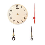 Time on vintage clock Part of a clock Stock Image