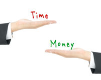 Time vs Money Royalty Free Stock Images