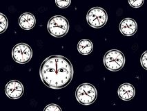 Time is waching you - cdr format Stock Images