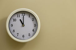 Time for wall clock 11:00 Stock Photo