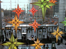 Time warner center. Busy lives of New York People in Time Warner Center Stock Photography
