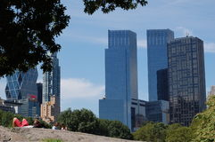 Time Warner Center from Central Park, New York Stock Image