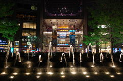 Time Warner Center at night royalty free stock photography