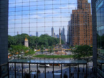 Time Warner Center. A View from the inside of Time Warner Center enterance, Columbus Circle, New York stock photography
