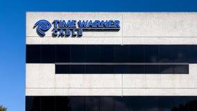 Time Warner kabla logo i budynek zbiory wideo