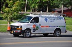 Time Warner Van Stock Image