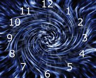 Time warp clock Stock Images