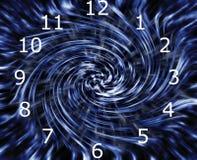 Time warp clock Stock Images