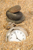 Time watch in the sand Royalty Free Stock Photos
