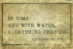 Time and water DaVinci Royalty Free Stock Photos