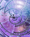 Time. Weaving time spirals through energetic space Royalty Free Stock Photo