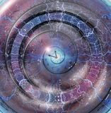 Time. Weaving time spirals through energetic space Stock Image