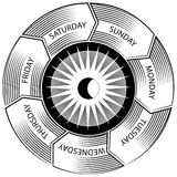 Time Wheel Engraving Royalty Free Stock Images