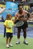 23-time wielkiego szlema mistrz Serena Williams uczestniczy przy Arthur Ashe dzieciaków dniem przed 2018 us open zdjęcie royalty free