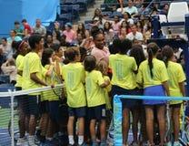 23-time wielkiego szlema mistrz Serena Williams uczestniczy przy Arthur Ashe dzieciaków dniem przed 2018 us open zdjęcia royalty free