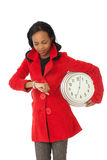 The time wih red coat Royalty Free Stock Photos