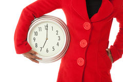 The time wih red coat Royalty Free Stock Images