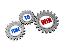 Time for win in silver grey gears Stock Images