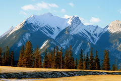 Time for winter holidays in canada. Jasper national park, first days of winter, alberta, canada Royalty Free Stock Images