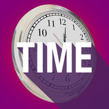 Time Word Clock Long Shadow Passing Moments Now Future Stock Photography