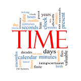 Time Word Cloud Concept Stock Photo