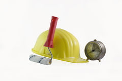 Time for work in construction Stock Image
