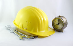 Time for work in construction Royalty Free Stock Image