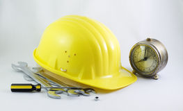 Time for work in construction Stock Images