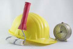 Time for work in construction Stock Photo