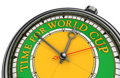 Time for world cup conceptual clock. In green and yellow Stock Images