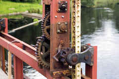 Time worm and damaged by water rusty mechanism Stock Images