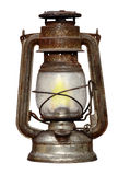 Time-worn kerosene lamp Stock Photo
