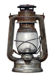 Time-worn kerosene lamp Stock Image