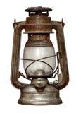 Time-worn Kerosinlampe stockbild