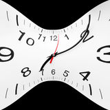 Time wrap. Concept of time wrap. Twisted clock face Stock Photo