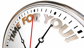 Time for You Clock Enjoy Life Your Moment Now Stock Image