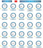 Time Zone - 1. Timezone set - 1 of 8 Stock Image