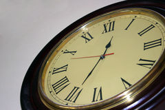 Time zone. Classical wall clock shield Stock Photography