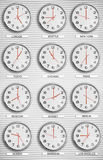 Time Zone Clocks Royalty Free Stock Photo
