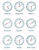 Time zone watch Stock Photos