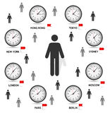 Time Zone World vector illustration Stock Images